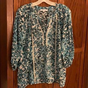 Claudia Richard floral tunic blouse.